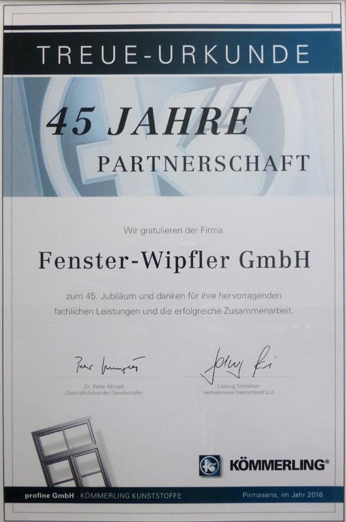 Partnerschaftsurkunde
